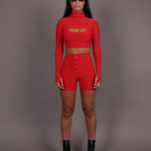 XIIC-bodyfit-cropped-biker-short-set-comfy-fashion-rood-sporty-sportief-croptop-bodycon-matching-wielrenners-broekje